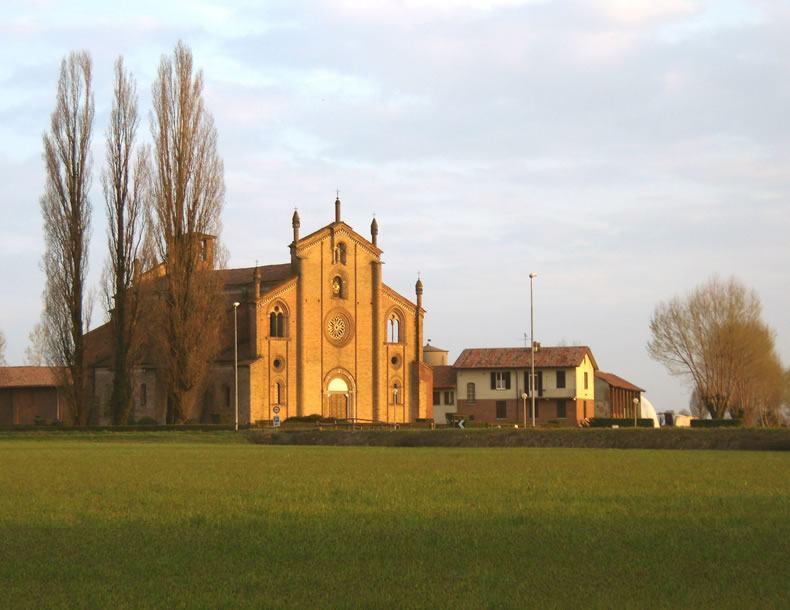 veduta della basilica di lodivecchio paese nel quale opera elettricista lodi